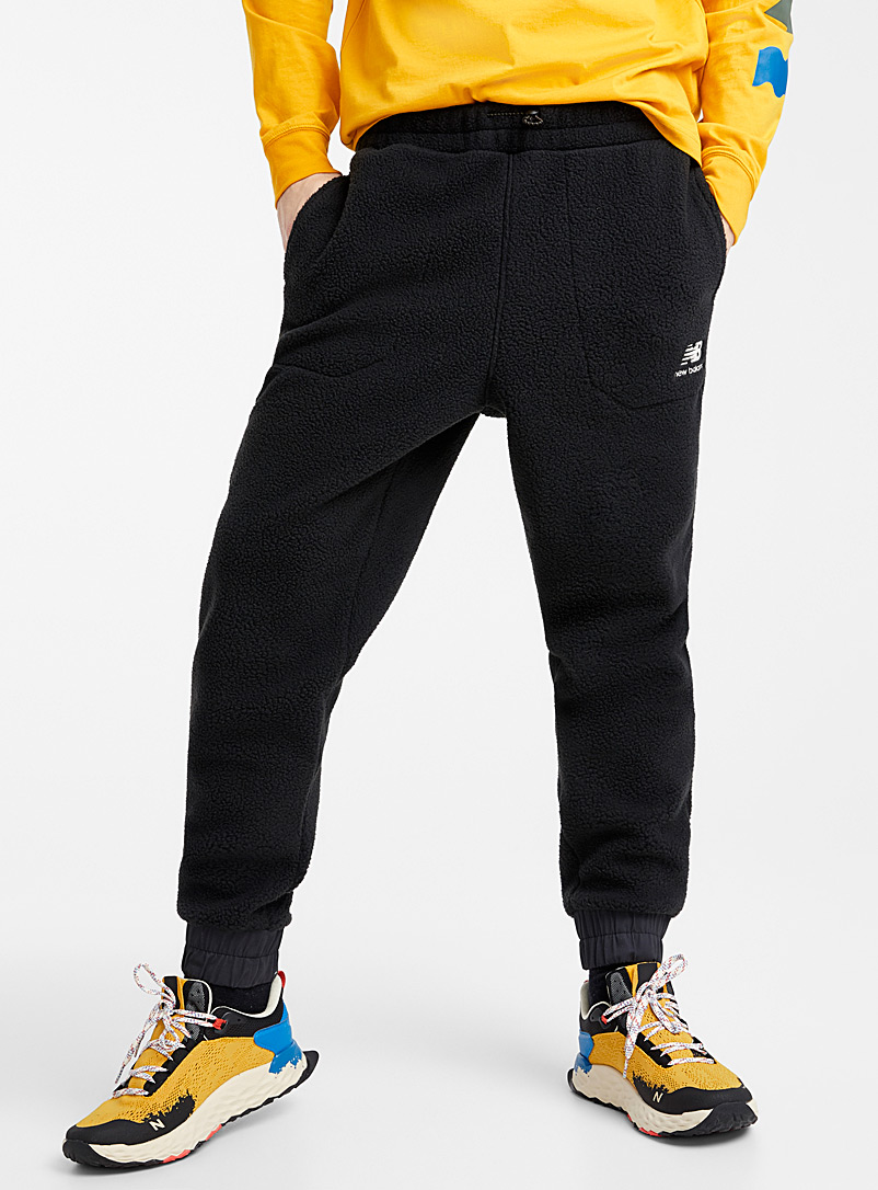 Sherpa fleece joggers - Joggers - Black