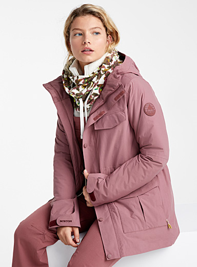 Dusty pink Runestone insulated coat <br>Fitted style