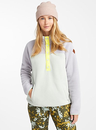 Frosted pastel high-neck fleece