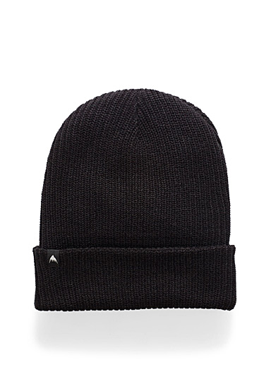 Black soft knit tuque