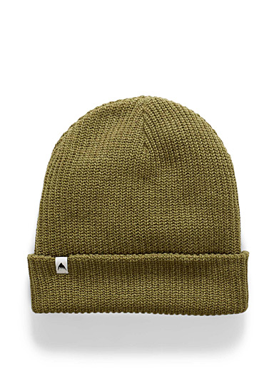 Khaki soft knit tuque