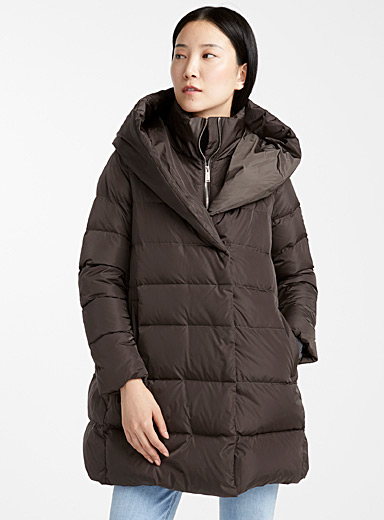 Zipped high-neck puffer jacket