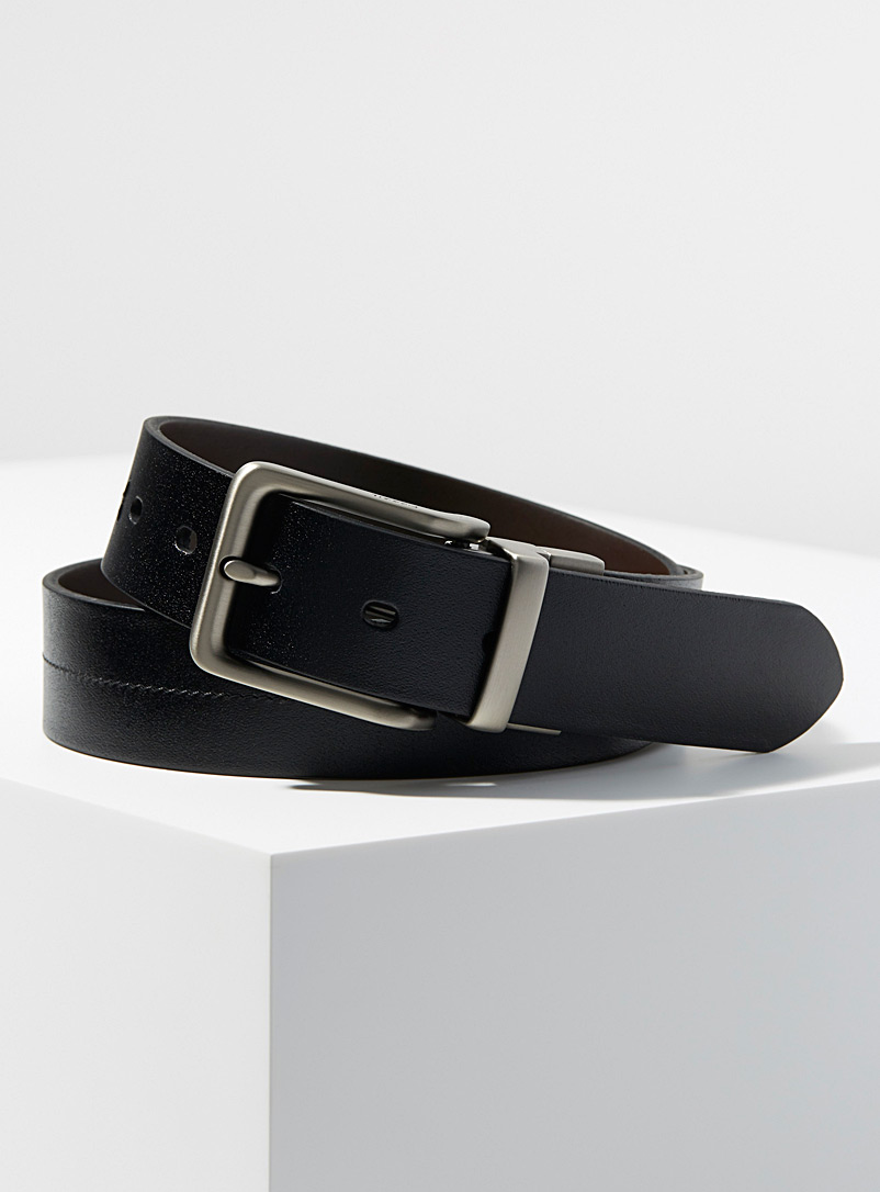 Fossil Black Brandon reversible belt for men