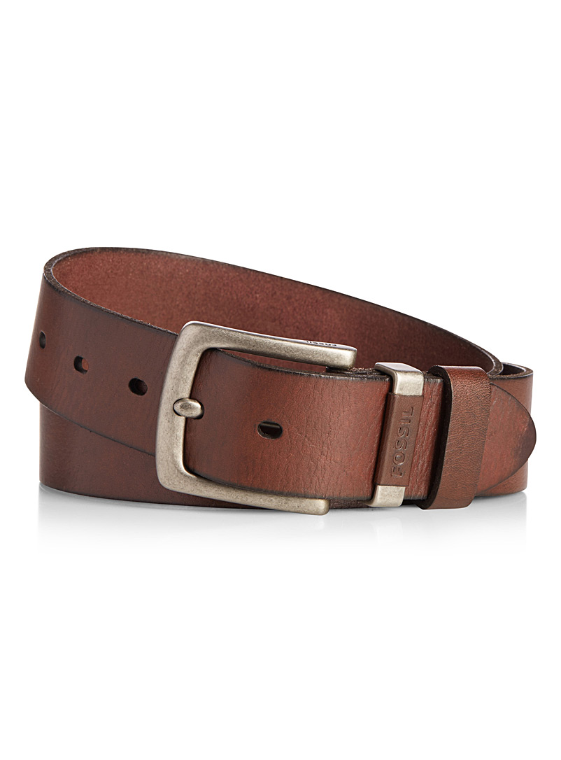 Jay leather belt - Belts & Suspenders - Brown
