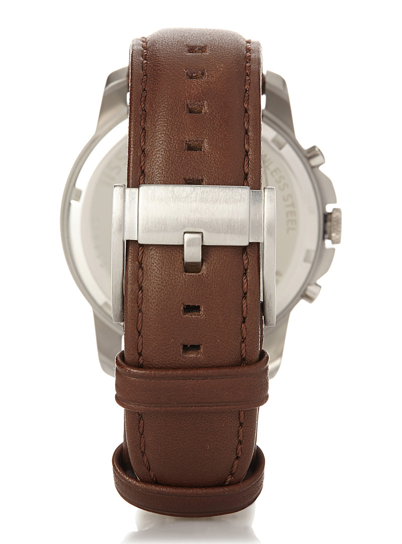Tobacco Grant chronograph watch - Watches - Brown