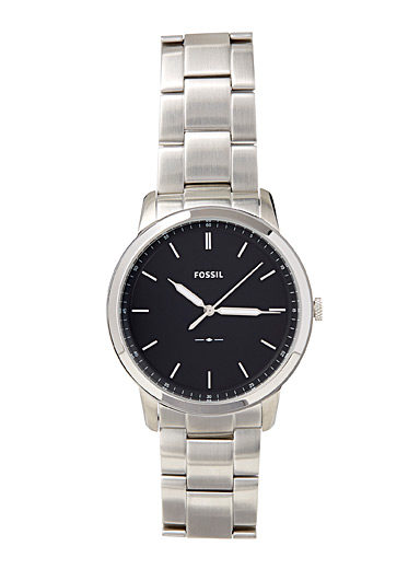 Fossil Grey The Minimalist stainless steel watch for men