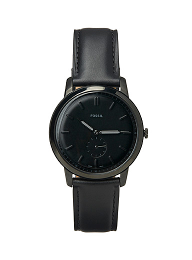 Fossil Black The Minimalist monochrome watch for men