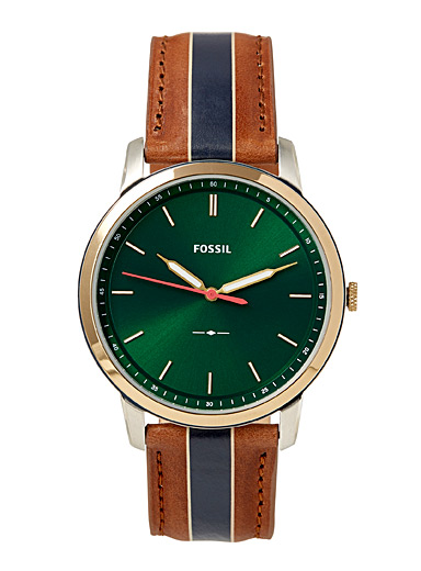 The Minimalist green face watch