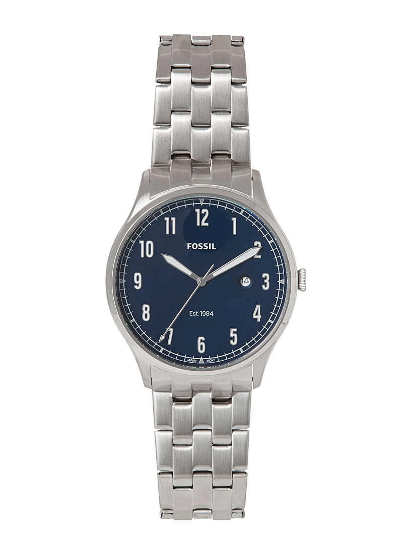 Fossil Grey Silver Forrester watch for men