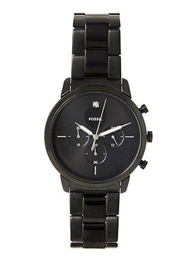 Fossil Black Black Neutra Chronograph watch for men