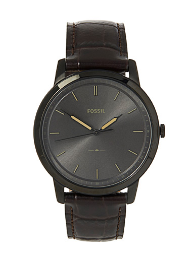 Brown leather Minimalist watch
