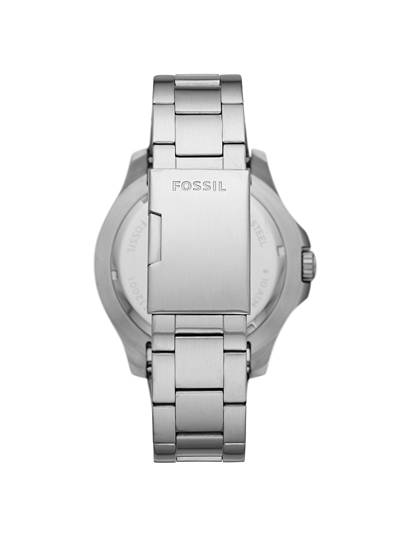 Fossil Silver FB-02 stainless steel watch for men