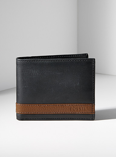Fossil Black Quinn wallet for men