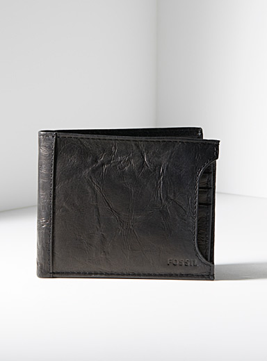 Fossil Black Neel 2-in-1 wallet for men