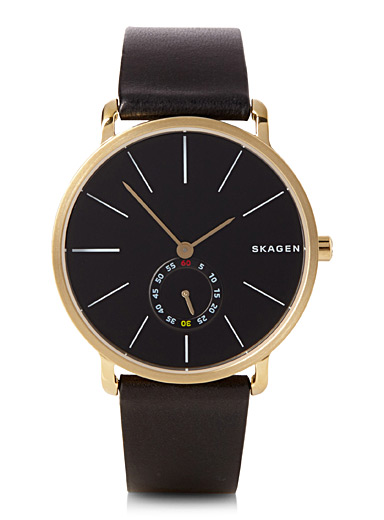 Leather Hagen watch