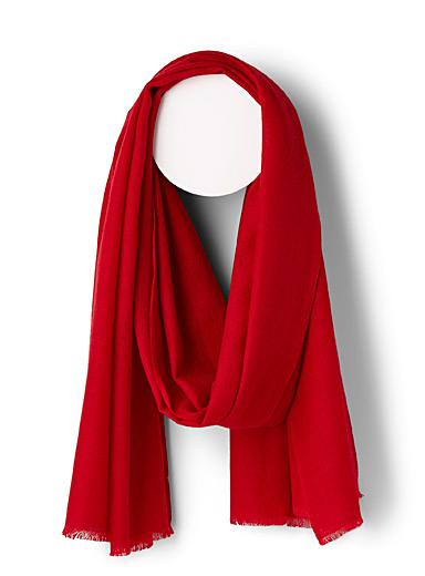 Colourful fine cashmere scarf