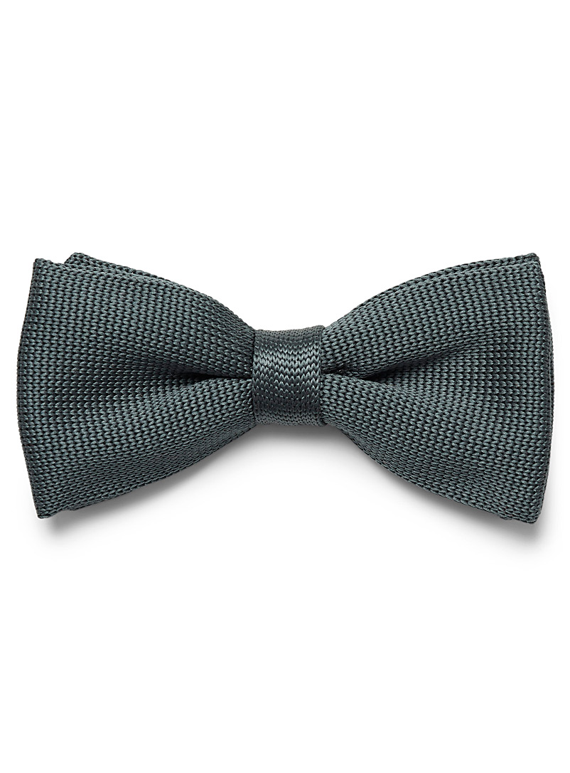 Satiny knit bow tie - Bow Ties - Teal
