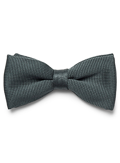 Le 31 Teal Satiny knit bow tie for men
