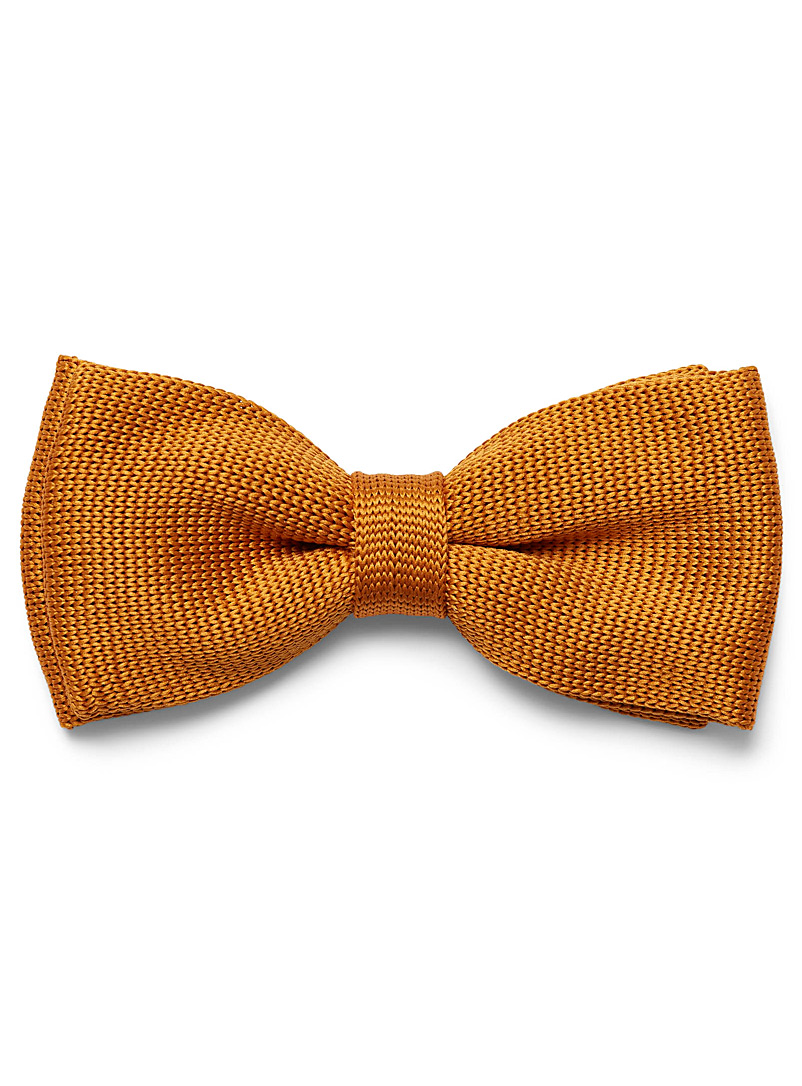 Satiny knit bow tie - Bow Ties - Golden Yellow