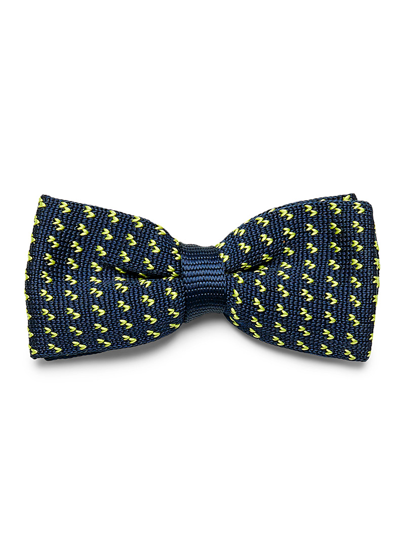Herringbone piqué bow tie - Bow Ties - Kelly Green