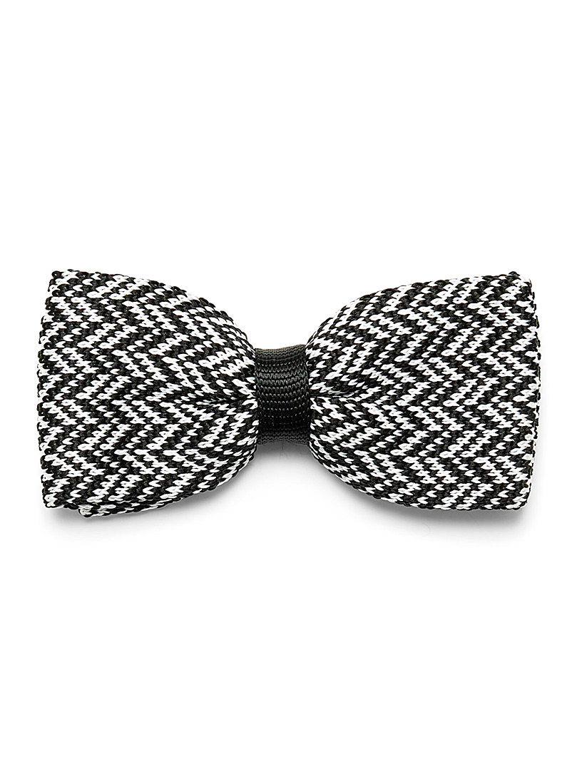 Herringbone weave bow tie - Bow Ties - White