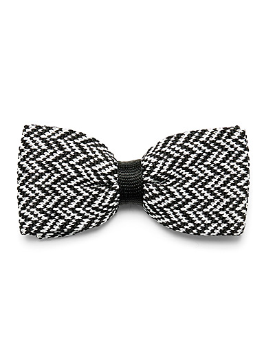Le noeud papillon tissage chevron