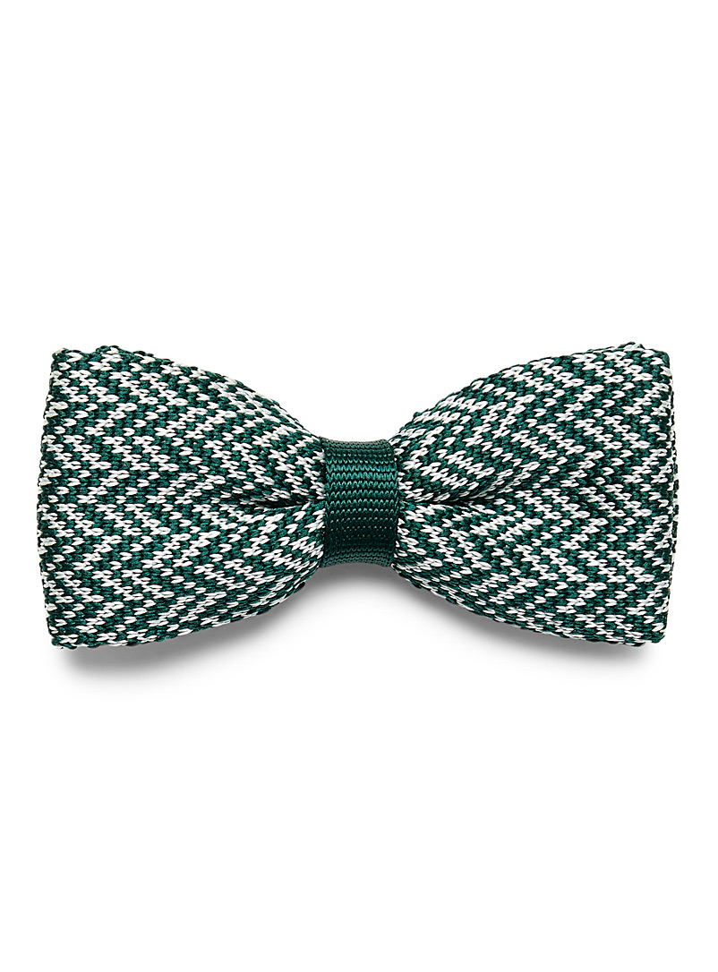 Herringbone weave bow tie - Bow Ties - Green
