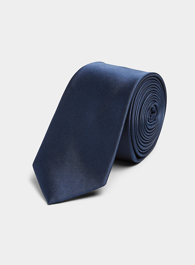 Le 31 Black Colourful satiny tie for men