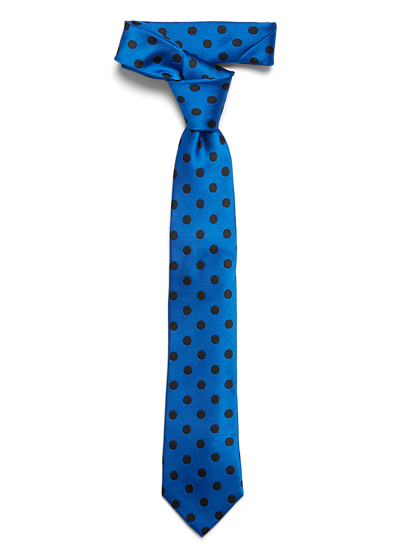 Le 31 Sapphire Blue Retro disc tie for men