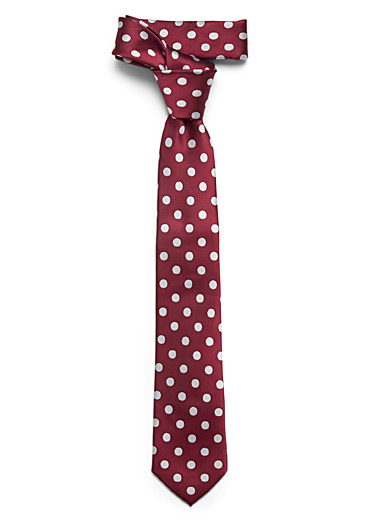 Le 31 Ruby Red Retro disc tie for men