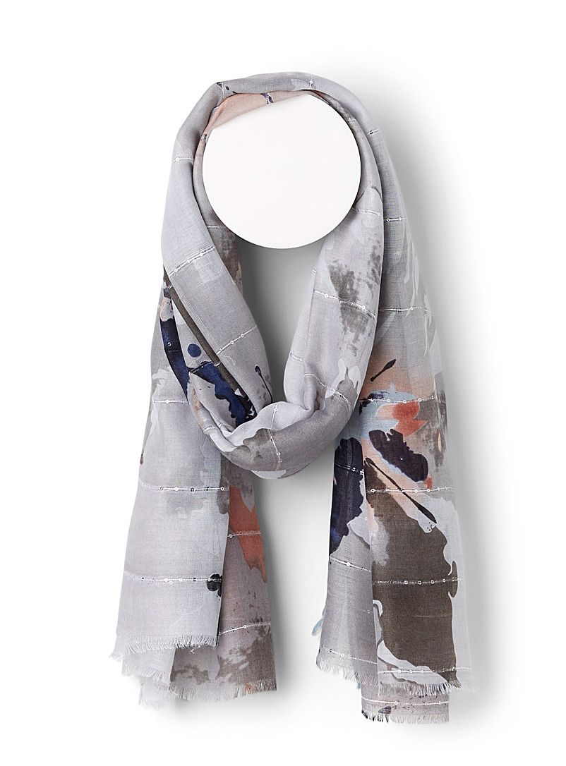 Sarajane Assorted  Abstract watercolour scarf for women