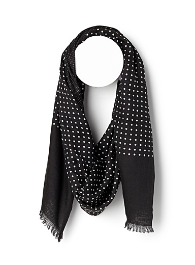 Dot duo scarf