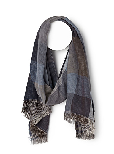 Check duo scarf