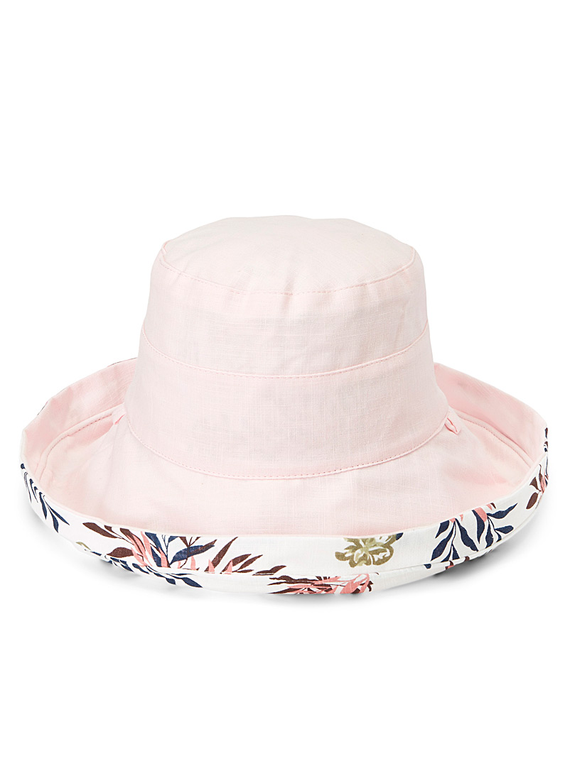 Sarajane Pink Reversible cloche hat for women