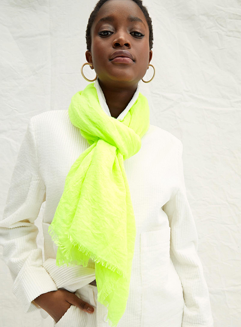 Neon scarf - Light scarves - Golden Yellow
