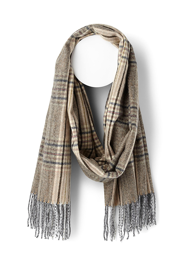 Ultra soft check scarf - Winter Scarves - Patterned Brown