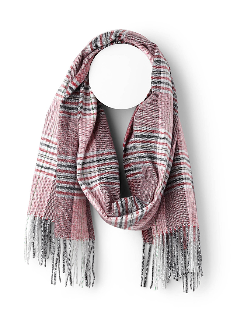 Ultra soft check scarf - Winter Scarves - Patterned Red