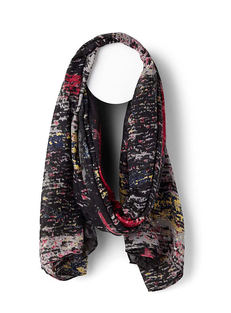 Night dream scarf - Light scarves - Patterned Black