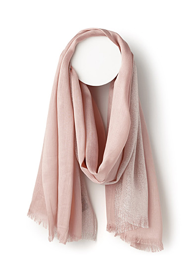 Shimmery accent scarf