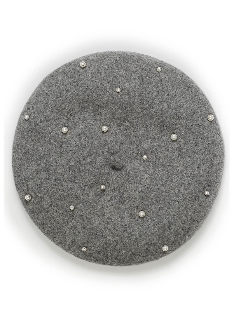 Beaded beret - Tuques & Berets - Silver