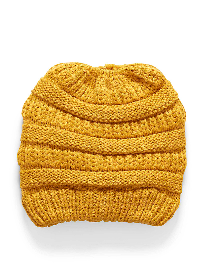 Chic hairdo tuque - Tuques & Berets - Golden Yellow