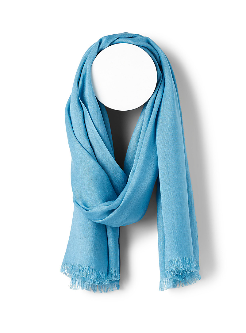 Simons Baby Blue Lightweight cocoon scarf for women