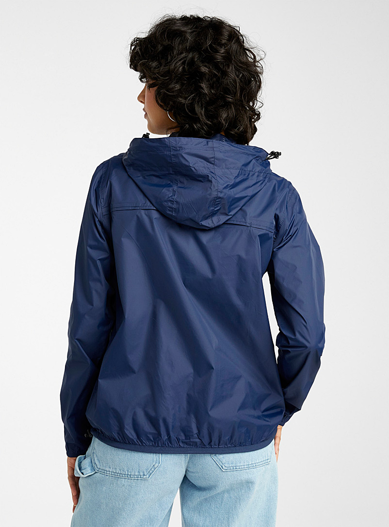 O8 Lifestyle Marine Blue Packable sporty waterproof anorak for women