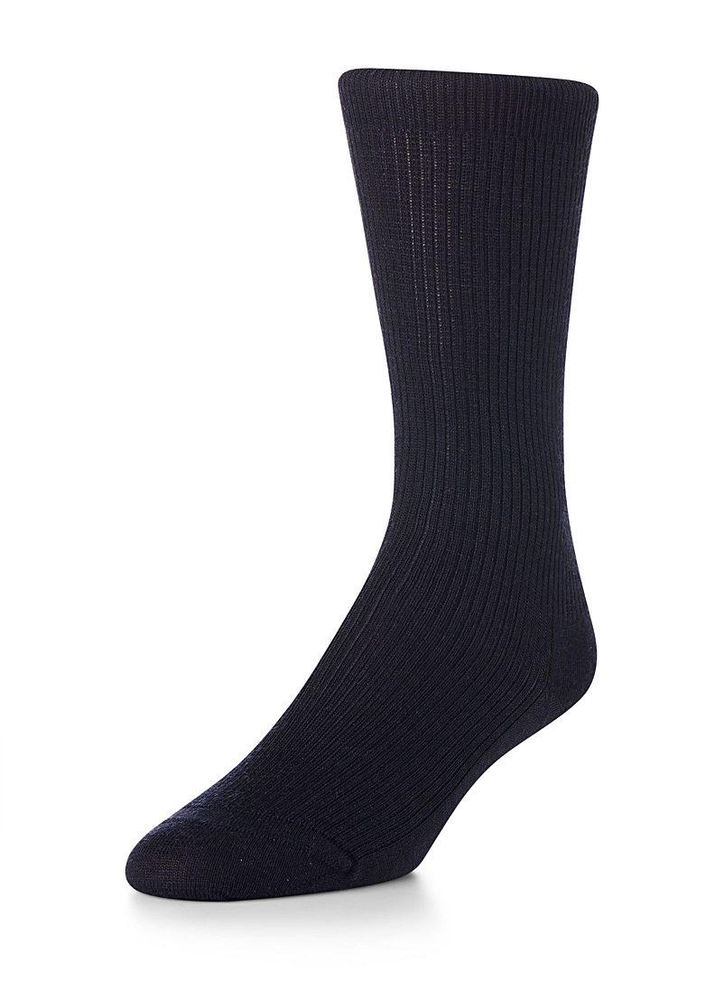 Small wool socks - Dressy socks - Marine Blue