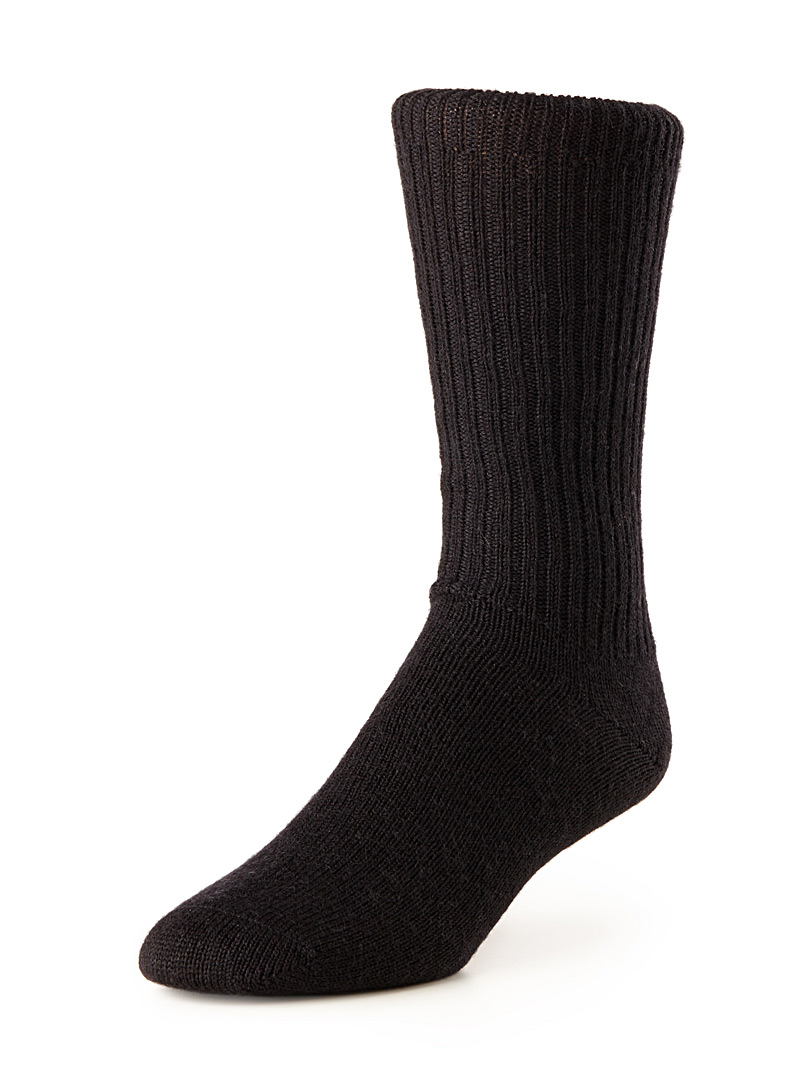 Merino wool ribbed socks