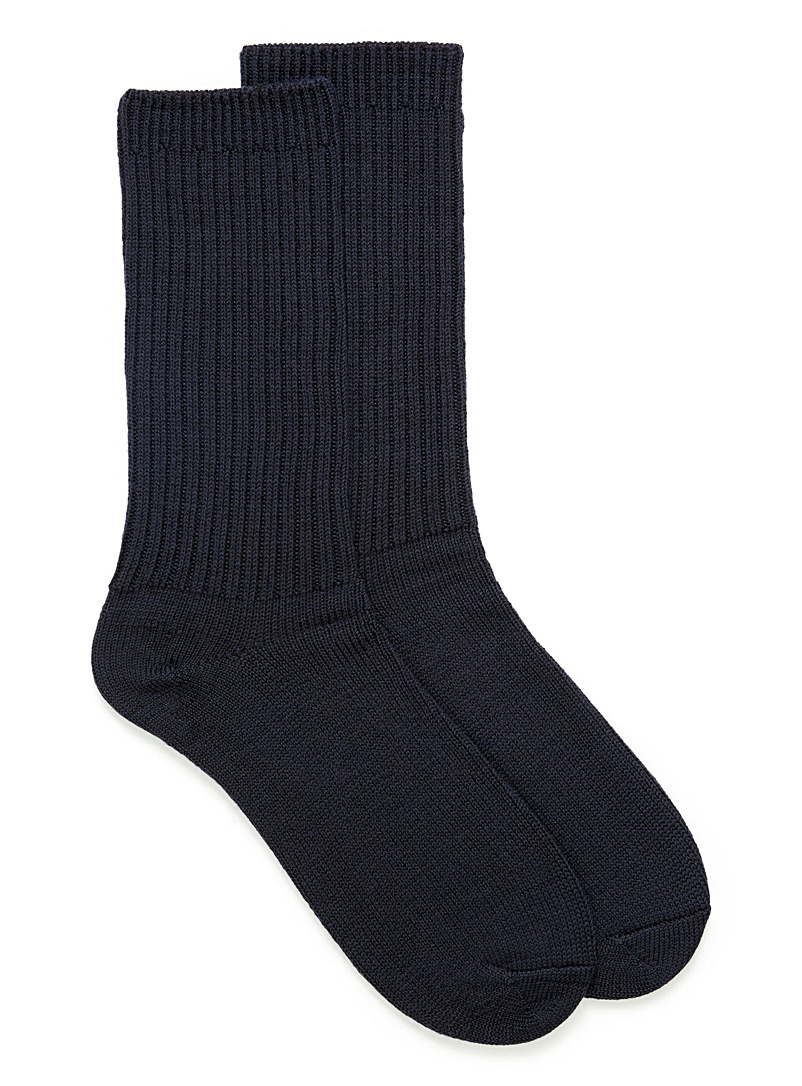 Weekend wool socks - Casual socks - Marine Blue