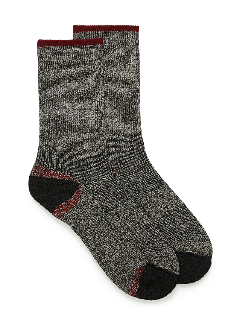 Le 31 Dark Grey Hiking socks for men