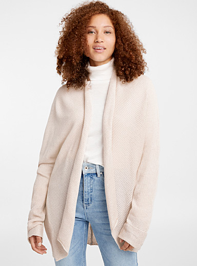 Mini wave ribbed cardigan