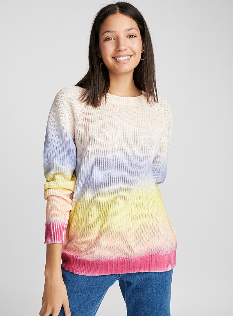 Pastel ombré sweater - Sweaters - Assorted