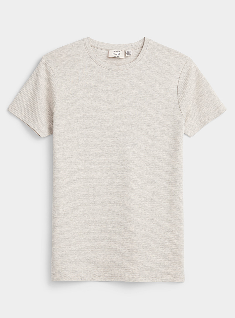 Le 31 Sand Textured stripe T-shirt for men